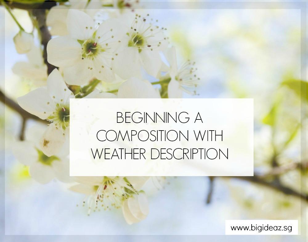 Begin Compo weather descriptions