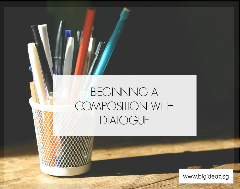 Begin A Composition With Speech